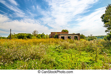 Abandoned rural House of Culture in Kursk region - Russia
