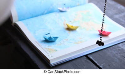 travelling or tourism concept, planning vacation - Travel...