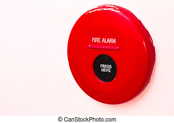 Fire Alarm Panel on white wall