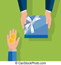 Making Gifts Vector Concept in Flat Design