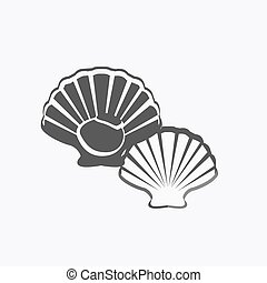 Oysters Vector Illustration - Oysters in monochrome variant....