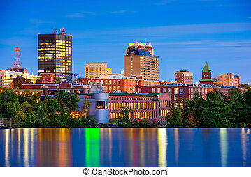 Manchester, New Hampshire Skyline - Manchester, New...