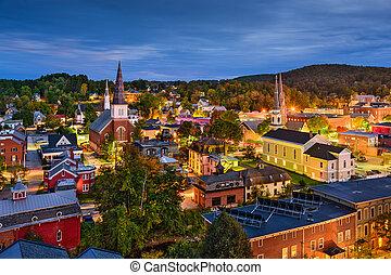 Montpelier, Vermont Skyline - Montpelier, Vermont, USA town...