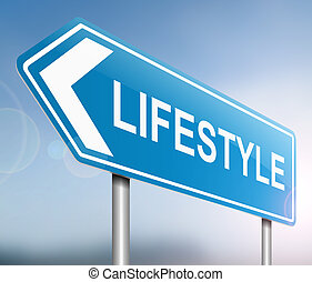 Lifestyle sign concept.
