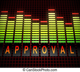 Approval levels concept. - Illustration depicting graphic...