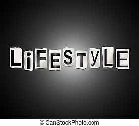 Lifestyle word concept.