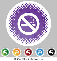 No Smoking button isolated on a background