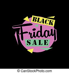Black friday sale sticker or banner. special offer tag. badge. Isolated vector