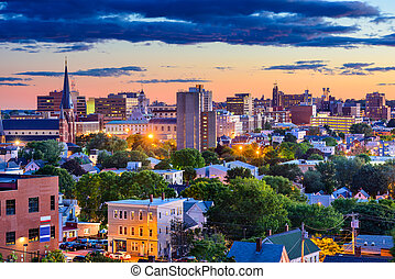 Portland, Maine Skyline - Portland, Maine, USA downtown...