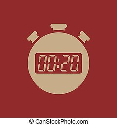 The 20 seconds, minutes stopwatch icon. Clock and watch,...