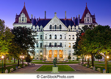 New York State Capitol - Albany, New York, USA at the New...