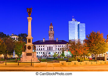 Worcester Commons - Worcester, Massachusetts, USA at...