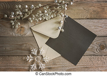 Greeting card mock up - a winter themed greeting card mock...