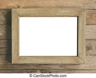 Rustic wooden frame mock up