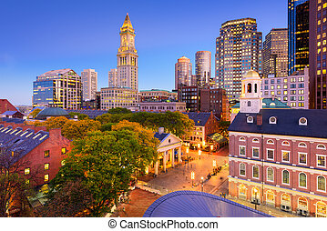 Downtown Boston Cityscape