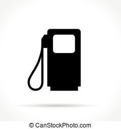 fuel pump icon - Illustration of fuel pump icon on white...