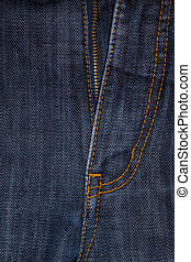 Blue Jeans Crotch with Zip.