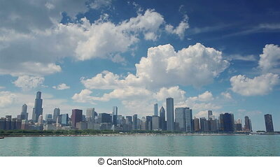 Clouds over Chicago, Illinois, USA - Clouds over Chicago,...