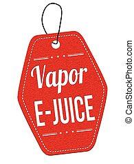 Vapor e-juice label or price tag - Vapor e-juice red leather...