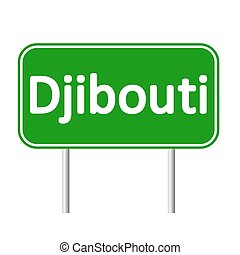 Djibouti road sign. - Djibouti road sign isolated on white...
