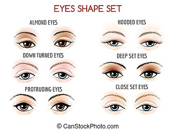 Eyes Shape Set - Set of Eyes shape. Different shapes - close...