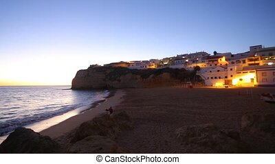 Beautiful coast in Carvoeiro, Algarve, Portugal - Beautiful...