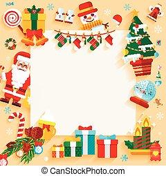 Christmas banner design greeting card