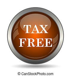 Tax free icon. Internet button on white background.
