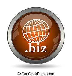 .biz icon. Internet button on white background.