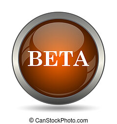 Beta icon. Internet button on white background.
