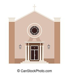 Church building vector illustration. Temple