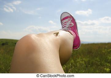 Epilation - Smooth epilated leg
