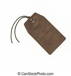 Vintage looking Tag label - Vintage looking Price tag or...
