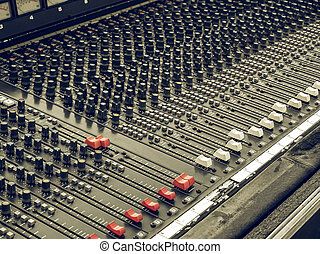 Vintage looking Soundboard - Vintage looking Detail of a...
