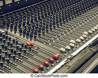Vintage looking Soundboard - Vintage looking Detail of a...