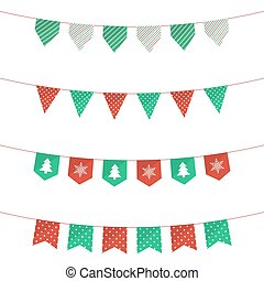 Christmas bunting flags