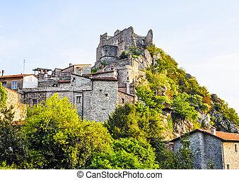 HDR Castelvecchio di Rocca Barbena - High dynamic range...