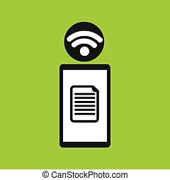 smartphone file internet wifi icon vector illustration eps...
