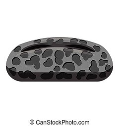 Oval spotted virus icon, gray monochrome style - Oval...