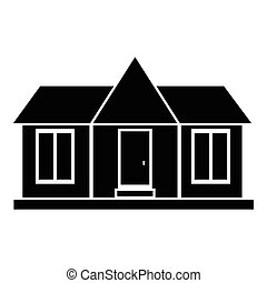 Modern country house icon, simple style