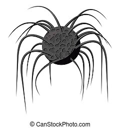 Bacteria cell icon, gray monochrome style - Bacteria cell...