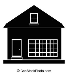 Cute country house icon, simple style