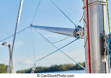 spinnaker pole is a spar used in sailboats - The spinnaker...