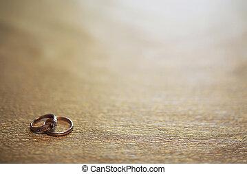 戒指, 婚禮, 背景, 邀請