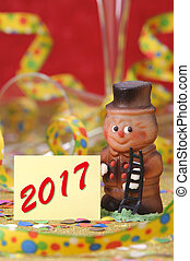 chimney sweeper as talisman for luck at new year 2017 -...