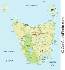 tasmania road map