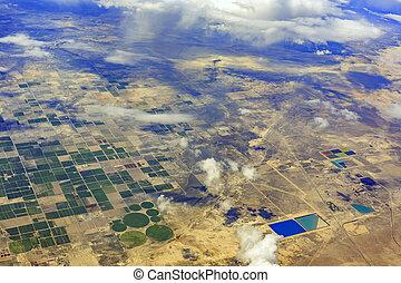 Aerial view of Elberta, Utah - Speical aerial view of some...