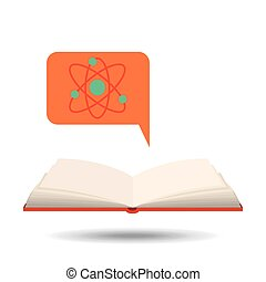 book open chemistry concept school graphic vector...