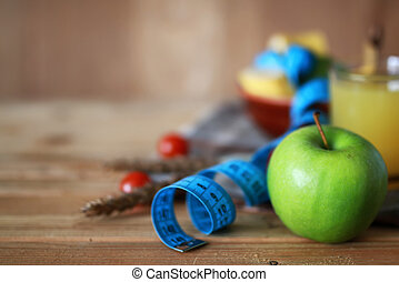 Breakfast diet fruit apple centimeter