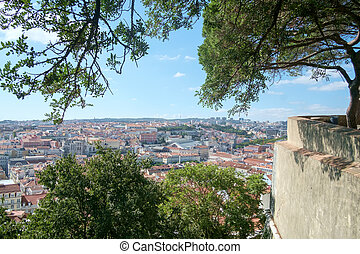 Lisbon from the Castle - View of Lisbon from the walls of...